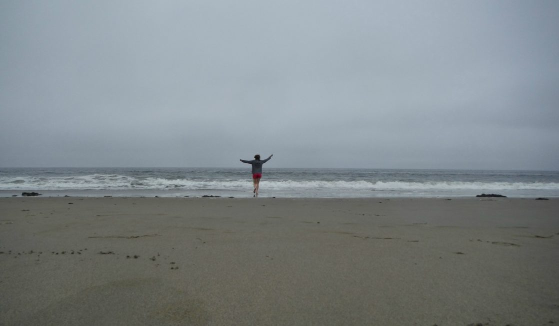 A solo walk along Limantour Beach Photo Credit: Jessica Lippe, Uncommon TravelingMom