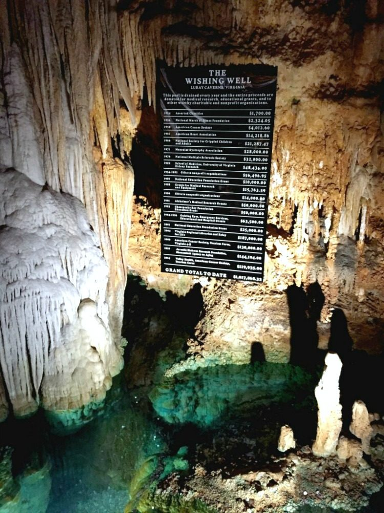 Throw in a coin and make a wish in the Wishing Well in Luray Caverns!