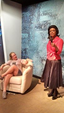Business trip travel tips - dishing with Oprah at Madame Tussaud's Wax Museum. Photo by: Sharon Enck