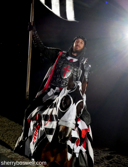 Medieval Times Myrtle Beach Black and White Knight