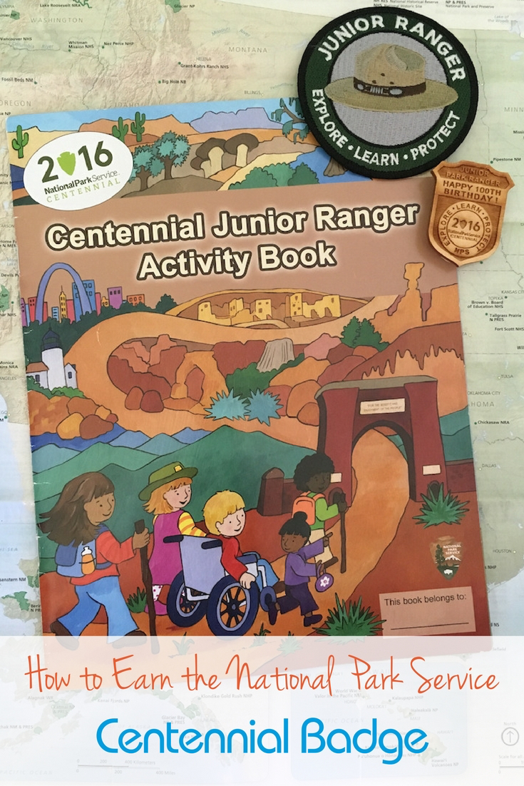 Your kids earn Junior Ranger badges? There's a commemorative wooden badge for the National Park Centennial.