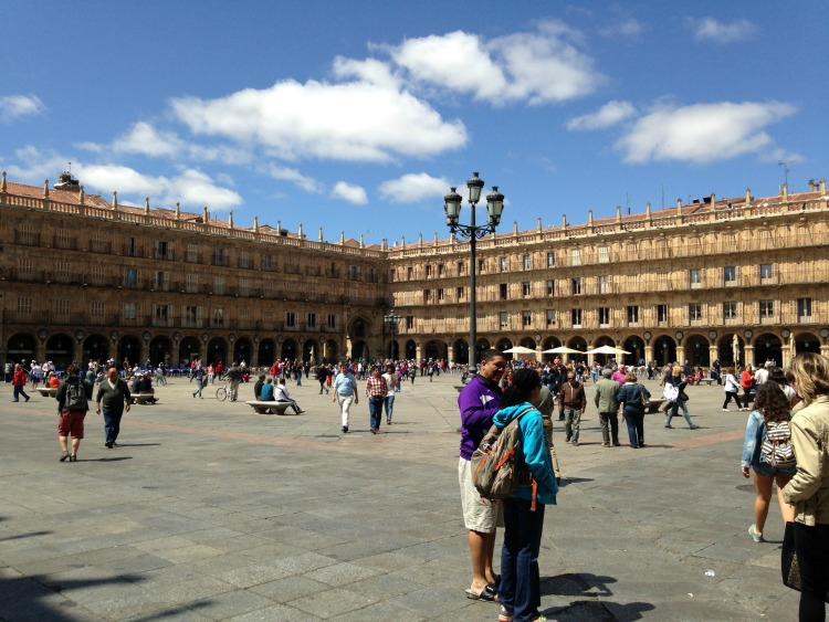 The Plaza Mayor is the busy hub of social activity and interaction. Photo credit: Denedriane Dean, guest author
