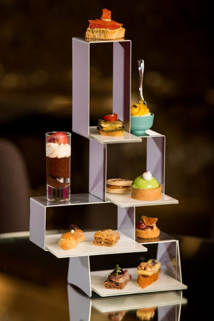Photo courtesy of Fig Media A modern afternoon tea is served at the Radisson Blu Aqua Hotel.