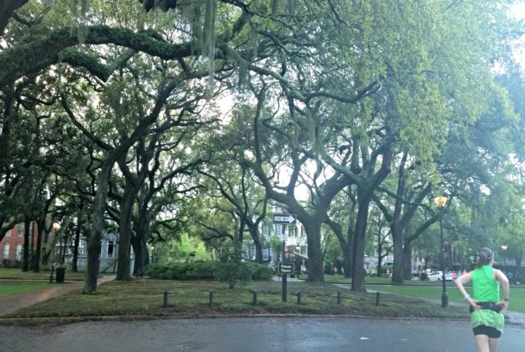 Running is so much easier with the tree-lined squares of Savannah along the Savannah Women's Half Marathon course. It's a beautiful destination race.