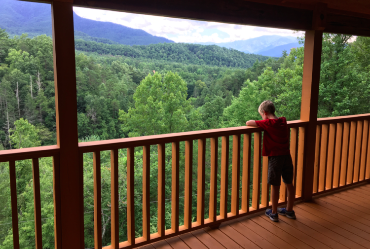 ... Smoky Mountains National Park. View From The Second Story Balcony Of A  HomeAway.com Rental Cabin, Near The