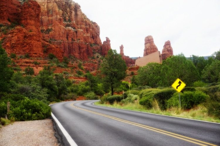 No, this isn't Radiator Springs Racer at Disney California Adventure! Welcome to Sedona, and one of the reasons it is possible to travel to Sedona on a budget, Photo by Multidimensional TravelingMom, Kristi Mehes.