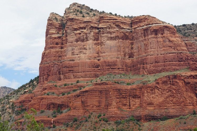 One of the beautiful rock formations you can see from the Red Rock Scenic Byway, Photo by Multidimensional TravelingMom Kristi Mehes.