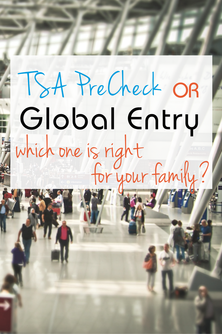TSA PreCheck or Global Entry? What's the right travel program for your family when flying?