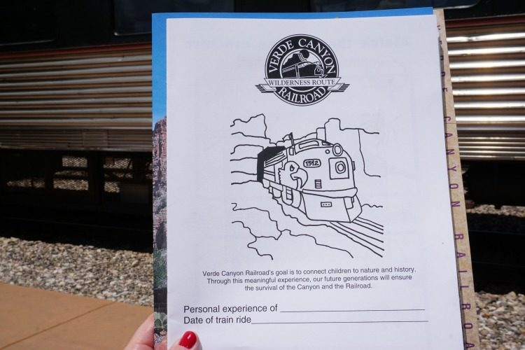 The activity sheets are another reason why the Verde Canyon Railroad is family friendly. Photo by Multidimensional TravelingMom.