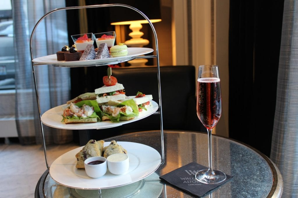 Photo courtesy of Waldorf Astoria One of the newest afternoon teas is at the chic Waldorf Astoria Chicago.