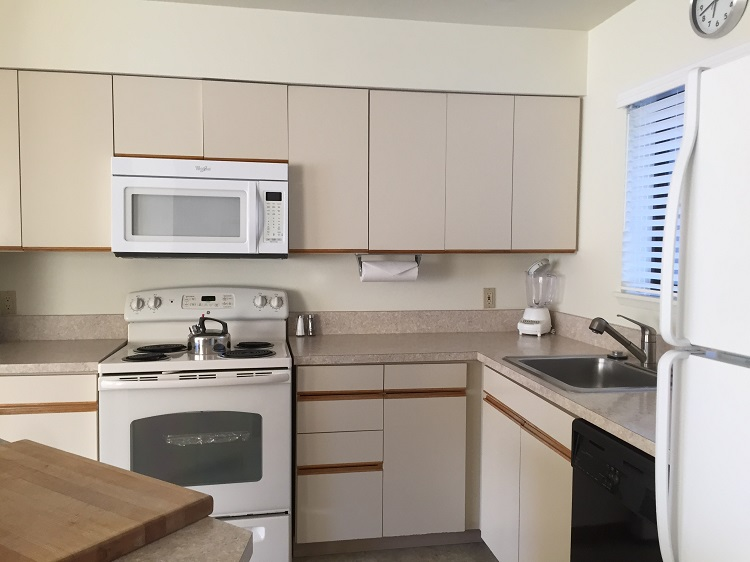 Full kitchen in condo unit at Wapato Point Resort on Lake Chelan, WA