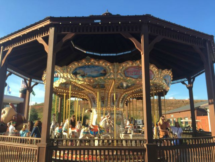 Free carousel rides at Tryon International Equestrian Center.