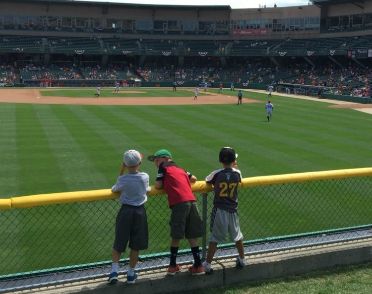 A day of baseball? Yes, please! It's one of my favorite things to do with kids in Indianapolis.