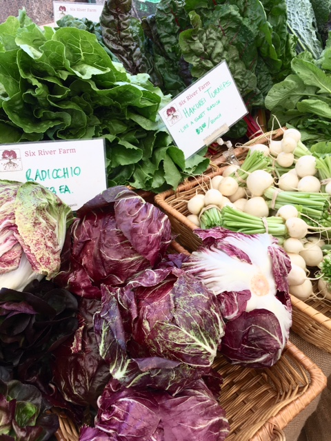 Some of the gorgeous produce at Brunswick Farmers' Market. Photo credit Sherry Wernicke, Luxe Traveling Mom.