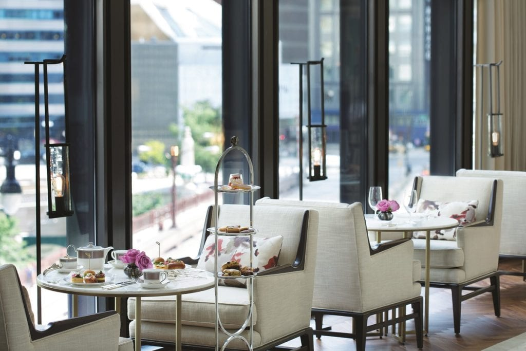 Photo courtesy of Langham Hotel Tea is an elegant affair at the Langham Hotel in Chicago.