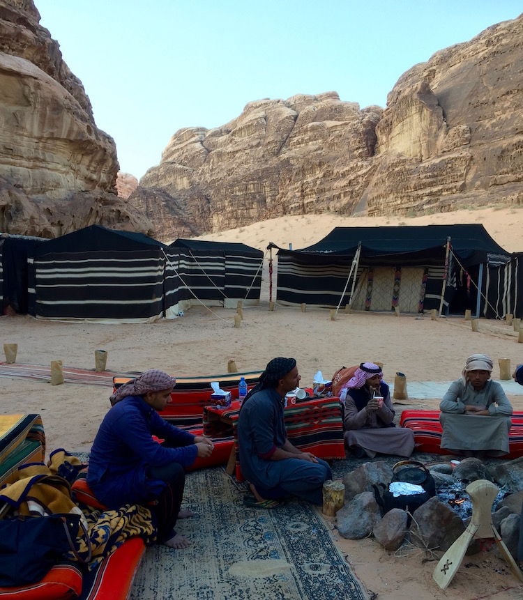 Bedouin tents in the Wadi Rum desert invite cultural immersion. Photo by Christine Tibbetts, Cultural Heritage TravelingMom