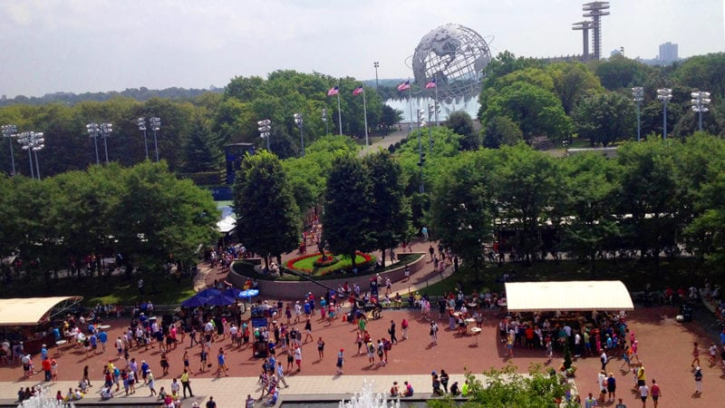 US Open tennis grounds in NYC.