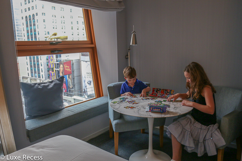 Families have some space to play at the Westin Times Square.