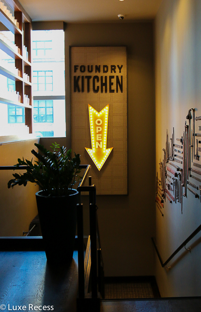 The Foundry Kitchen at the Westin Times Square offers a daily breakfast buffet.