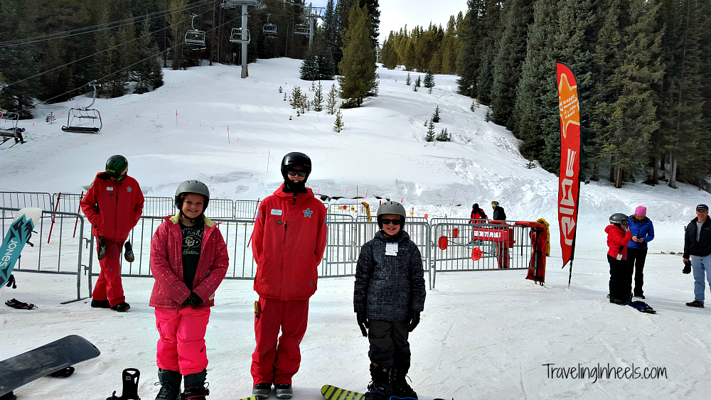 When choosing a condo for your family ski vacation, you are usually minutes from the slopes and your lessons, like we were in Copper Mountain Colorado.