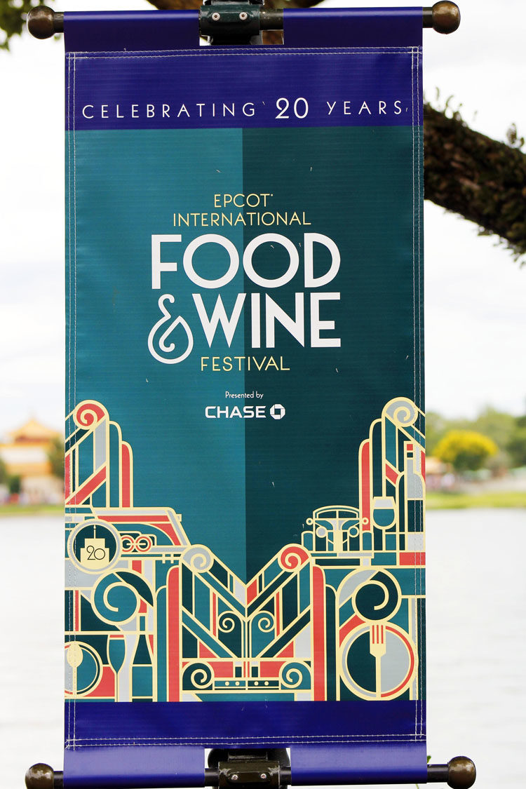 Food & Wine Festival signage from the 20th anniversary year.