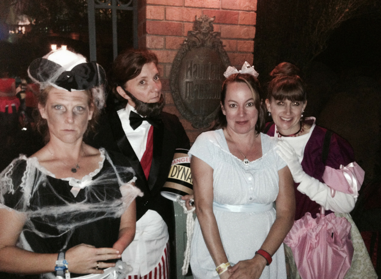 Halloween Party at Haunted Mansion with friends