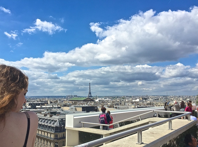 See the Eiffel Tower in the distance? Paris views are as good as Paris food!