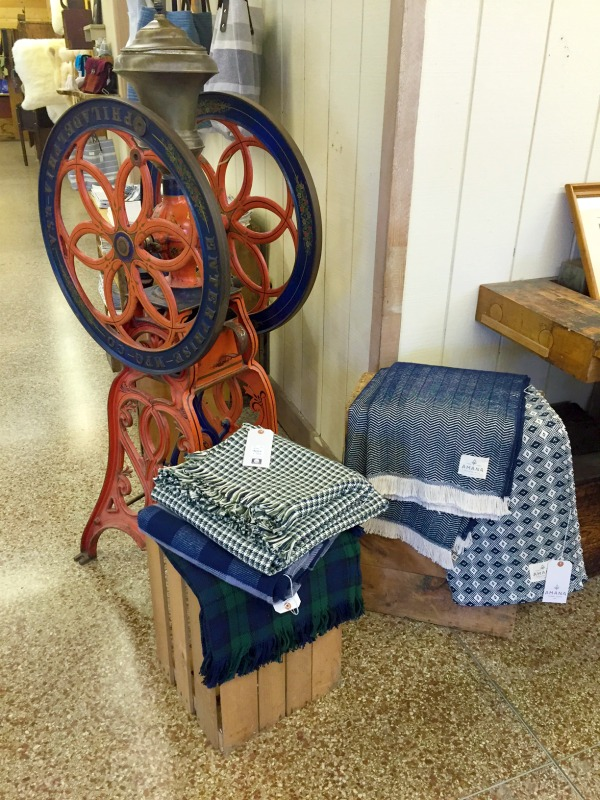 A stop on our last day of our Iowa Outdoors tour, Amana Colonies woolen mill sells high quality, handmade blankets