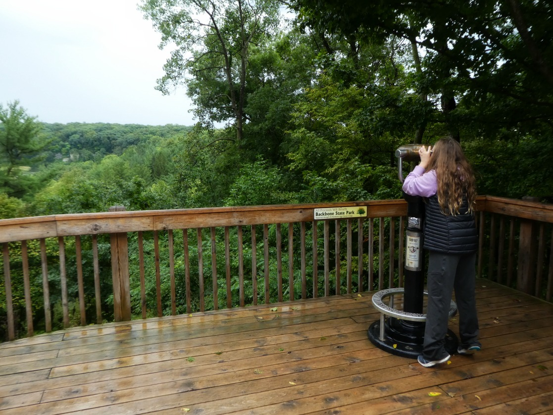 Scoping out all there is to explore at Backbone State Park, Iowa Outdoors Tour