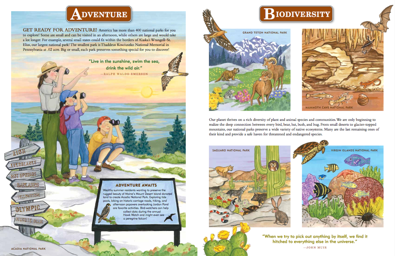 Journey Around our National Parks, books about national parks for kids, Martha Day Zschock,