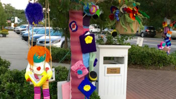 Art on a Limb yarn bombing