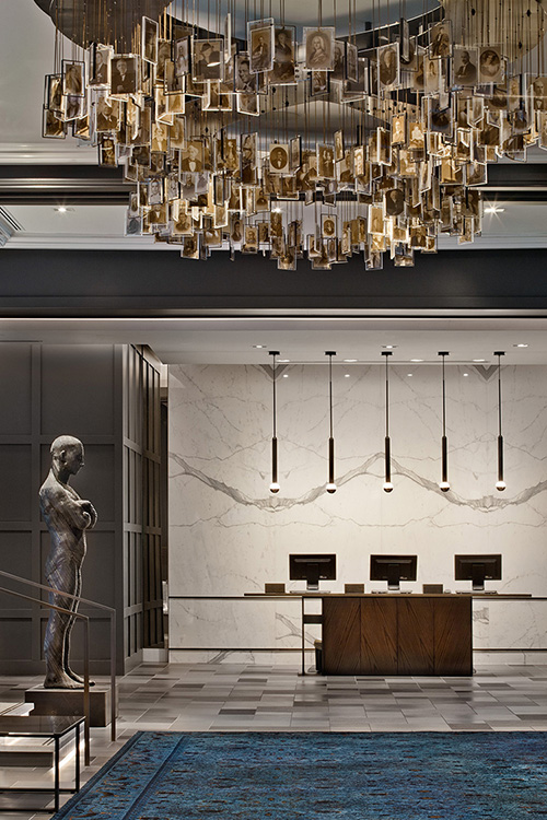Logan Hotel Lobby - Front Desk with Art