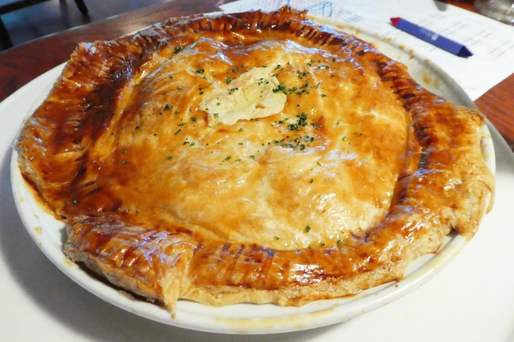 Chicken pot pie, with homemade crust, is one of the best things on the menu at the Honey Creek Resort's restaurant.. Photo by Jamie Bartosch/Suburban TravelingMom