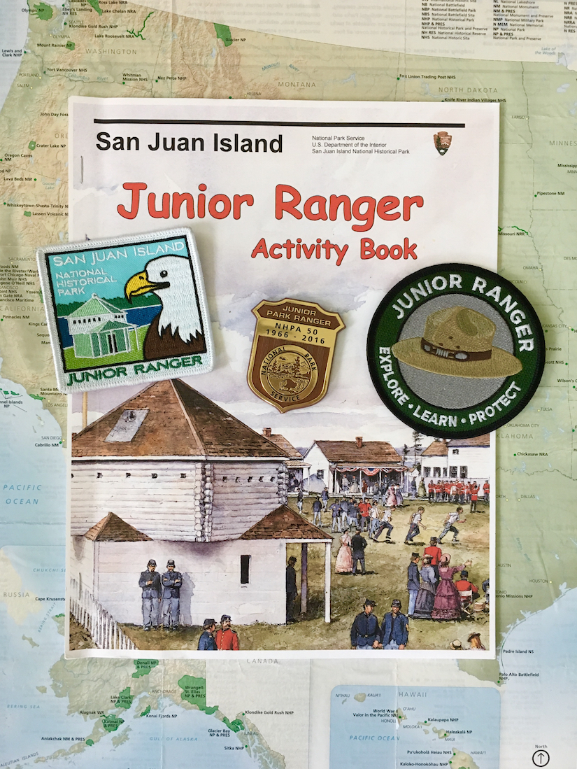 San Juan Island National Historical Park for kids, Junior Ranger badges, Washington getaways,