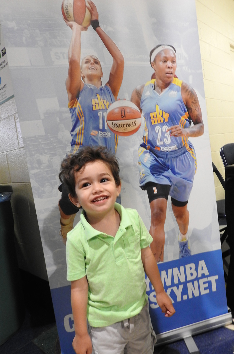 Chicago Sky Women's Basketball, Photo credit Theresa Volpe