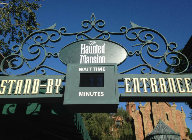 Stand By Entrance Haunted Mansion
