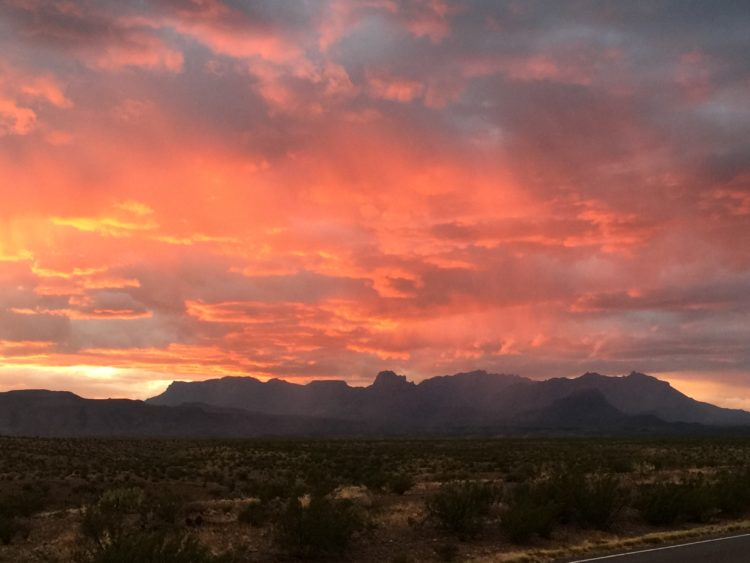 Breathtaking Big Bend Sunse