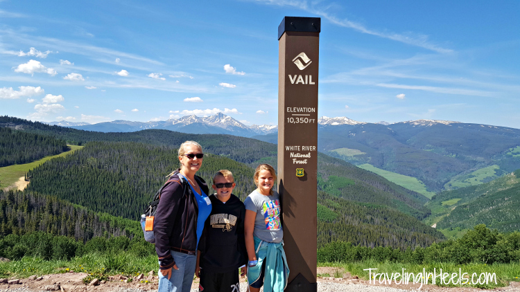 Stop at the top of Vail Mountain is over 10,000 feet and the beginning of your Epic Discovery adventure.