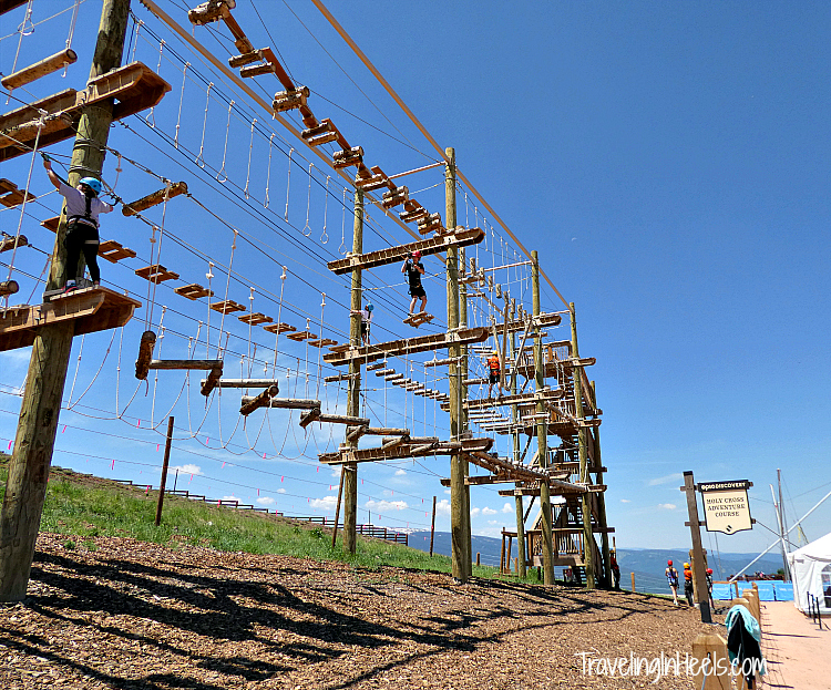 Test your skills on the Holy Cross Adventure Course.