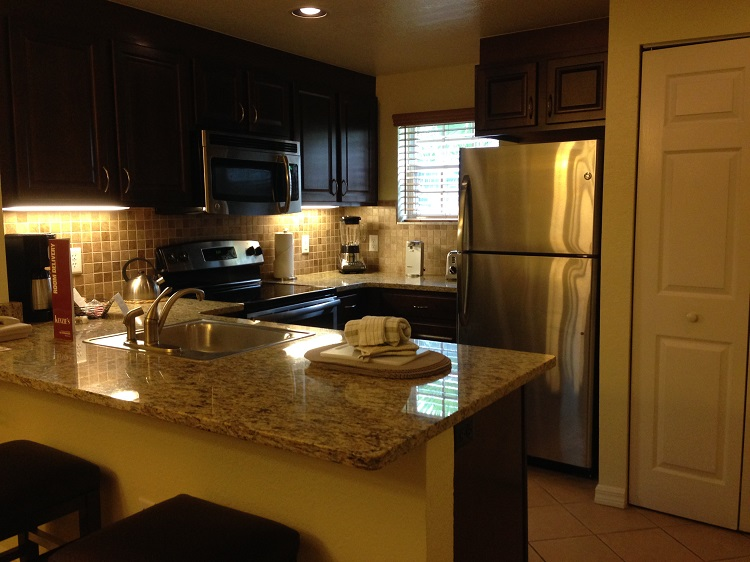 Kitchen facilities are a big help for families when deciding where to stay in Orlando.