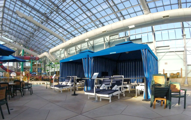 Rent a cabana at Splash Village Water Park.
