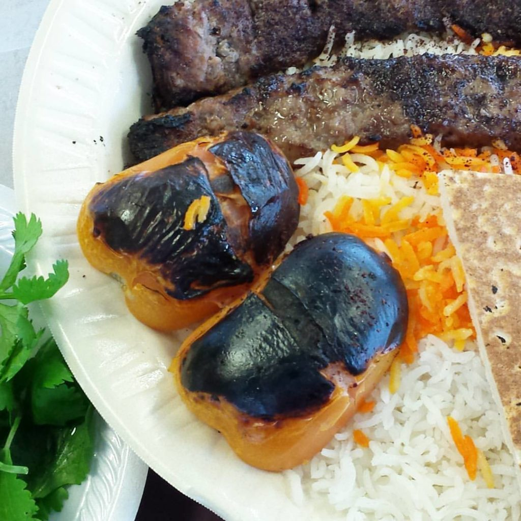 Kebabs and rice are a staple of Jordanian food and most Middle Eastern cuisine.