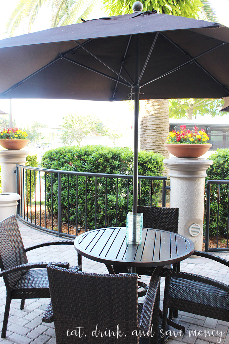 Buena Vista Suites review: outdoor dining view