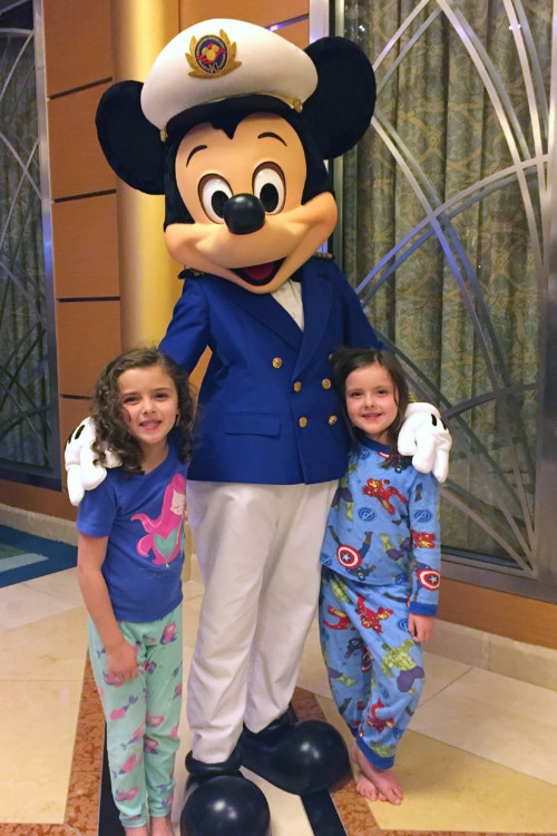 Meeting characters like Mickey on a Disney Cruise Line vacation is low stress compared to the parks.