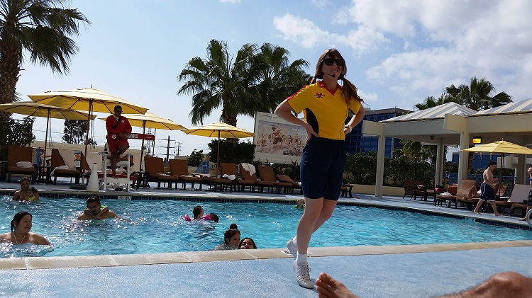 Disney's Paradise Pier Hotel Cast Members love to entertain kids poolside.