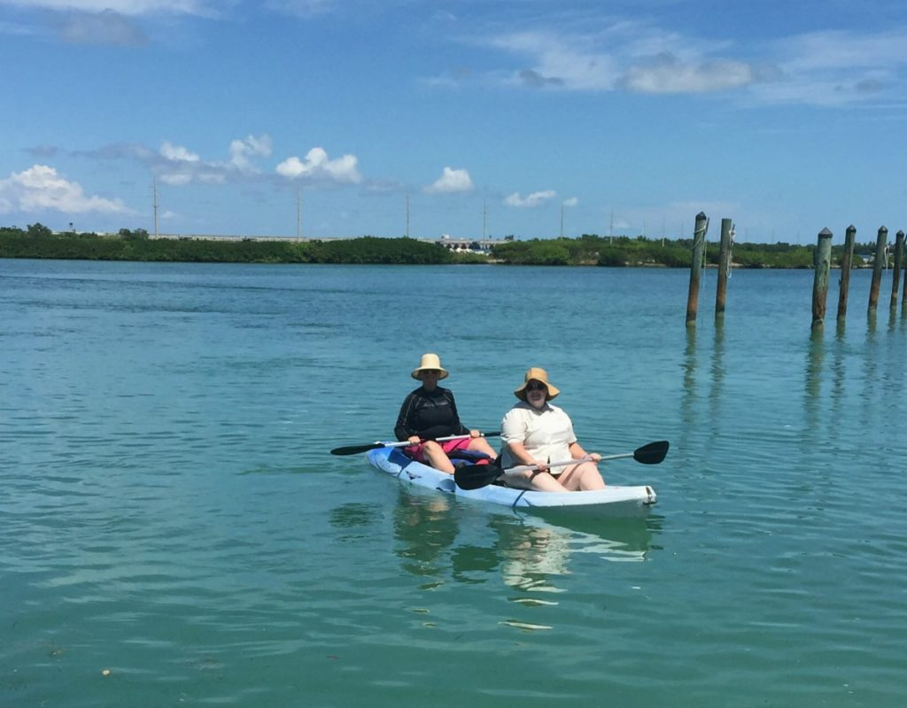 Kayakingat Hawks Cay Resort in the Florida Keys, one of the best Florida resorts for families.