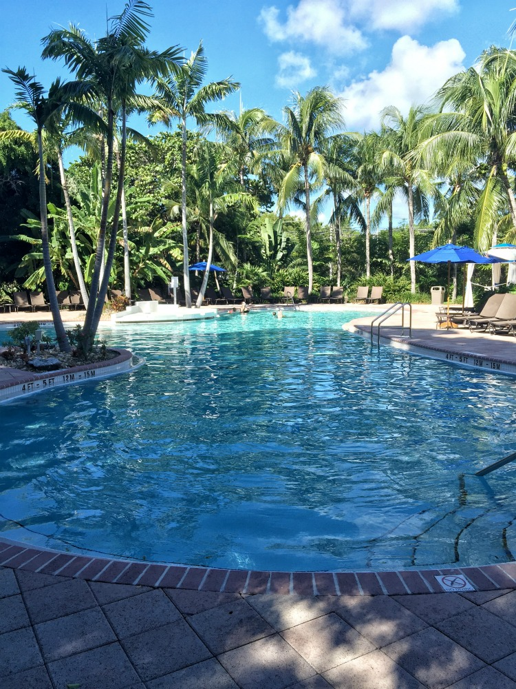 One of the five pools at Hawks Cay Resort in the Florida Keys.