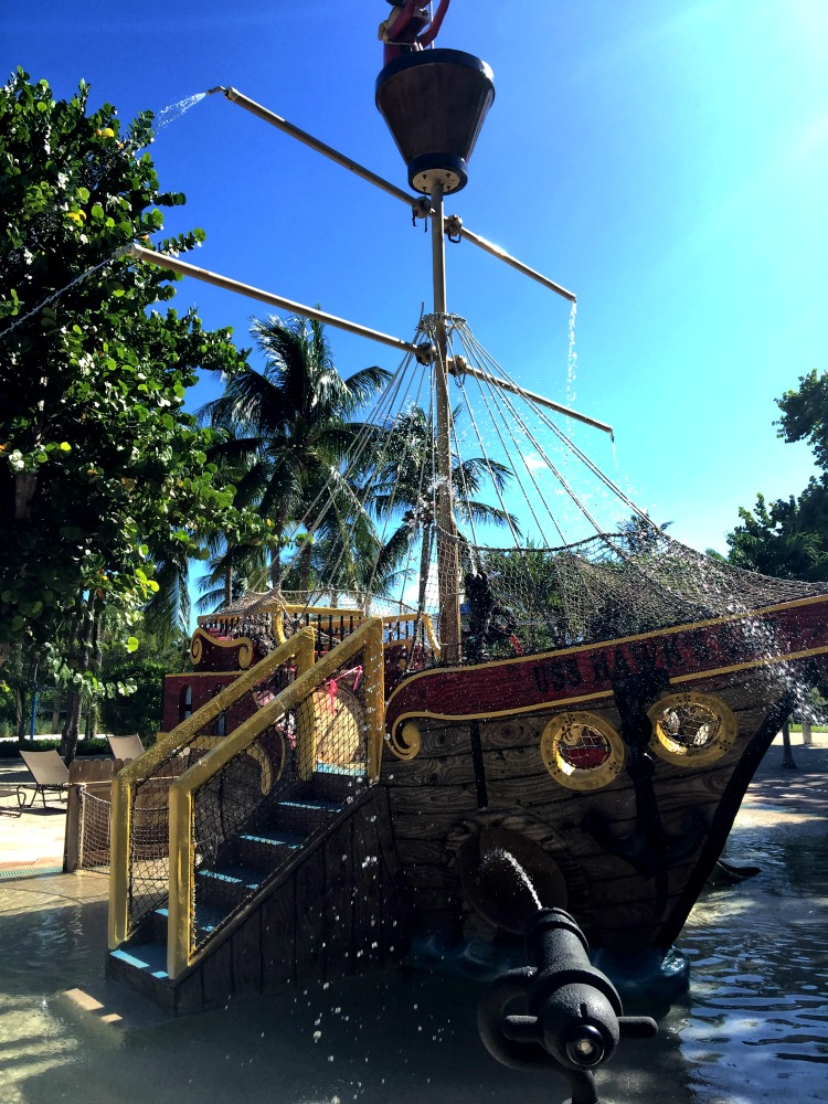 Florida Keys features a pirate ship.