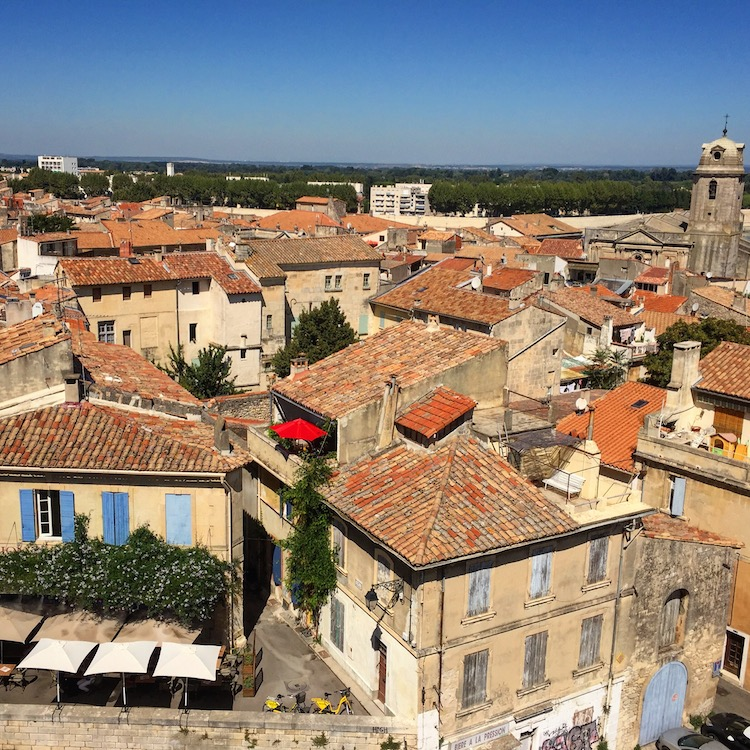 View of Arles, France from the Roman Arena