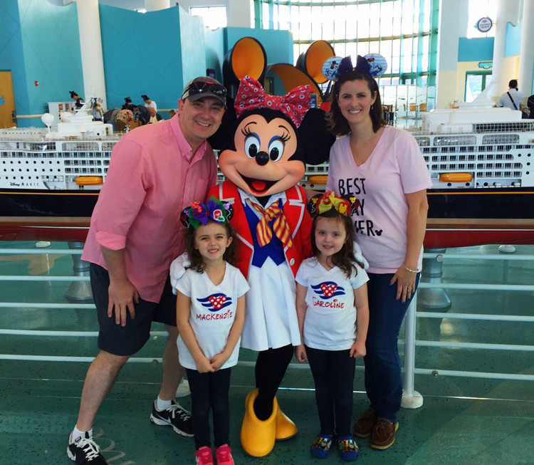 Meeting characters begins in port on a Disney Cruise Line vacation.